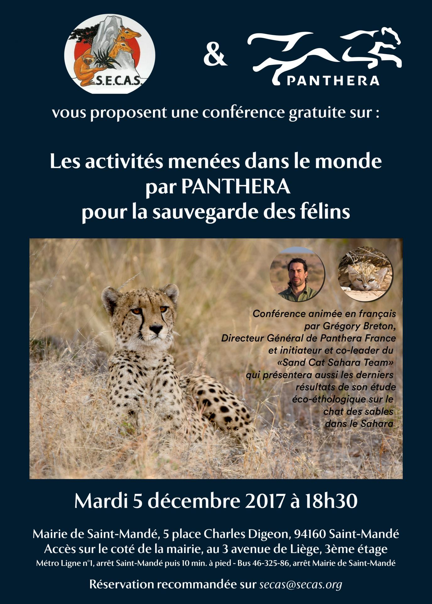 Affiche conference panthera