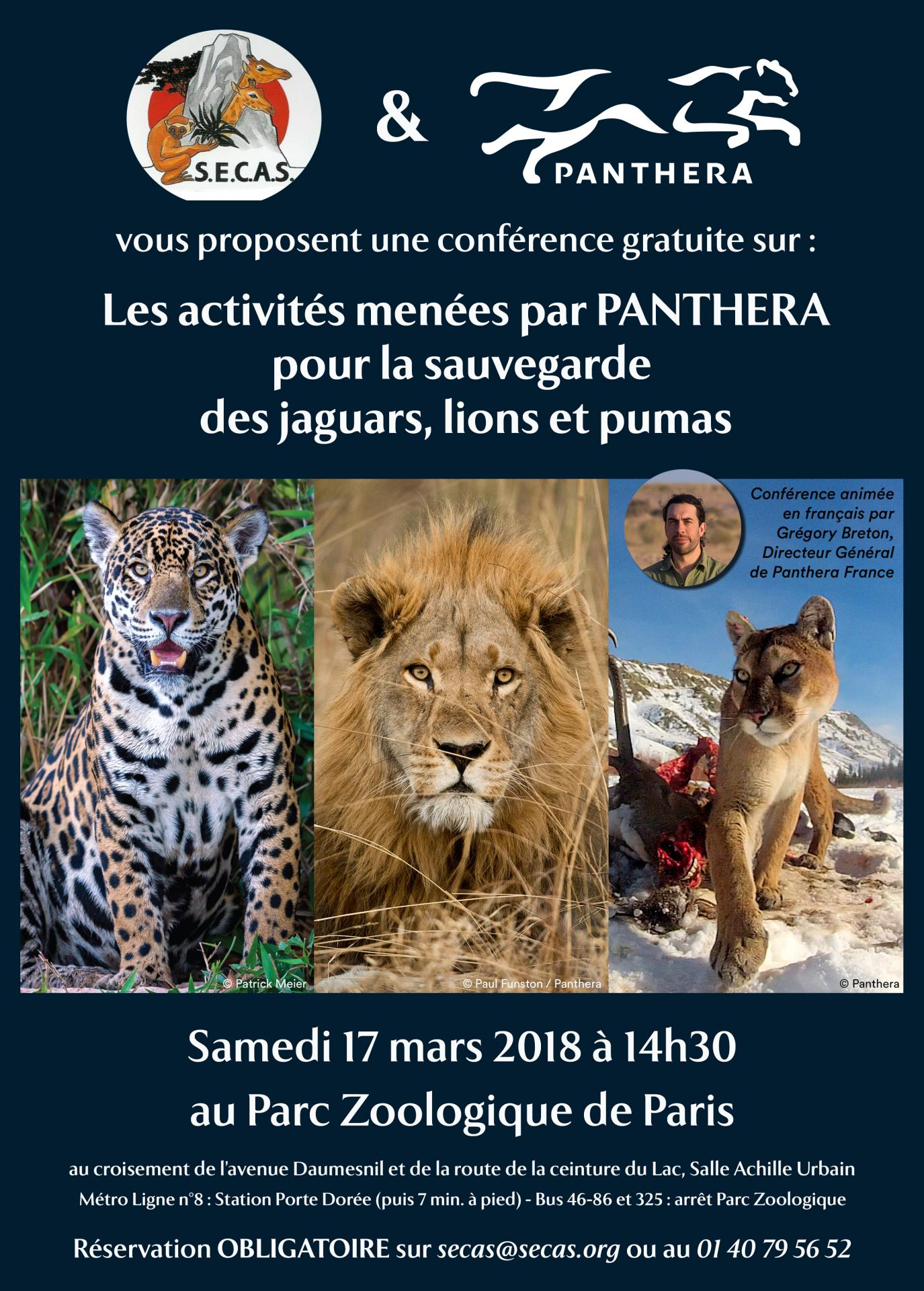 Affiche intervention panthera mars 2018 bulletin secas