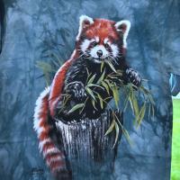 T-shirt Panda roux