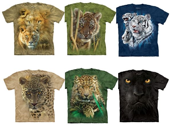 T shirts felins