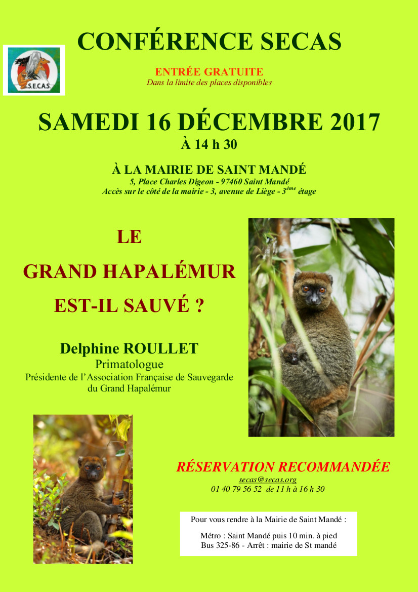 Affiche conference delphine dece 2017